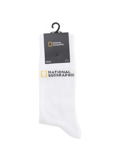 National Geographic Çorap Beyaz